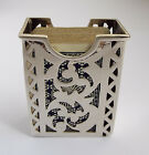 LOVELY ENGLISH ANTIQUE 1904 SOLID STERLING SILVER TRAVELLING PLAYING CARD BOX