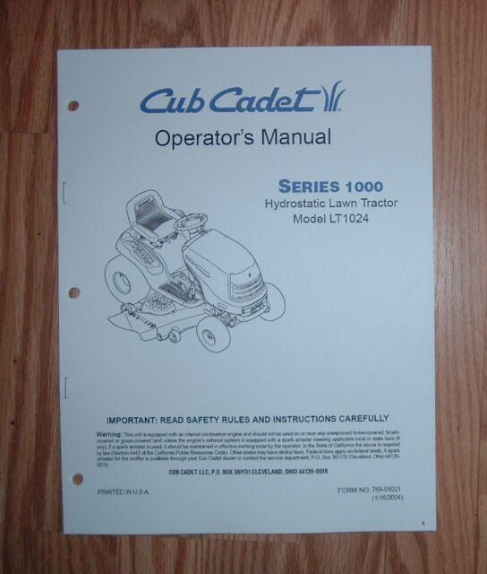 Cub cadet lt1024 lawn tractor parts maunal ebay cub cadet lt1024 lawn garden tractor owner operators manual freerunsca Images