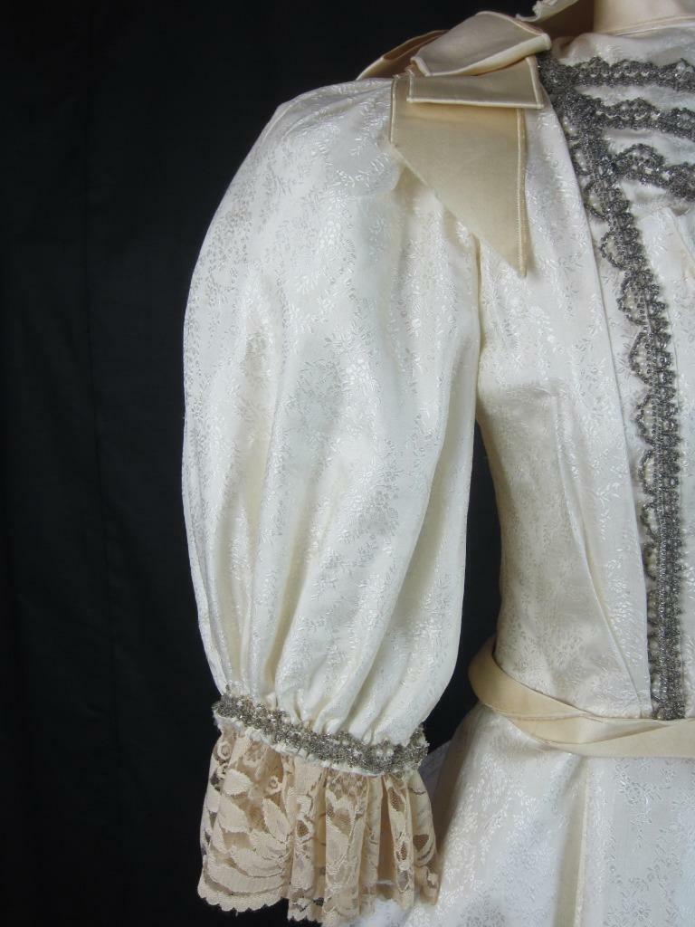 1895 Wedding Gown Victorian True Antique Dress - … - image 5