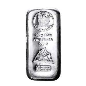 Münzbarren Fiji 500 Gramm Silber Argor Heraeus 999,9er Silberbarren 2015