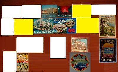 Etichetta Albergo valigia Luggage Label Hotel ITALIA Napoli Capri Salerno Bari
