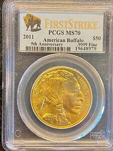 2011 $50 Buffalo PCGS MS70 First Strike US Gold coin American bullion 1oz 24kt