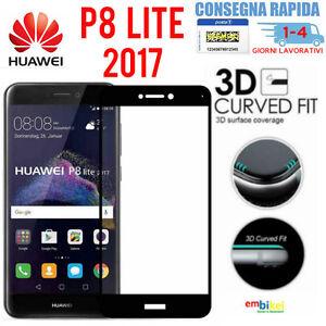Huawei P8 LITE 2017 Pellicola 3D vetro temperato Protezione BORDI ...