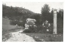 D0627 Monte Grappa - Colonna Romana a Ponte S. Lorenzo - Stampa 1928 - Old Print