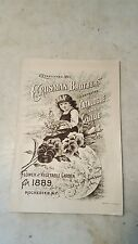 1889 Crosman Illustrated Flower Vegetable Seed Catalog Rochester NY