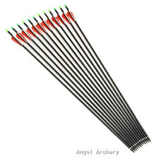 """12 Pcs 32"""" carbon arrows with Changeable Arrowheads for Compound&Recurve bow"""