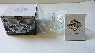 Shannon Crystal Ring Holder by Godinger - NIB Jewelry Organizer Vanity Accessory