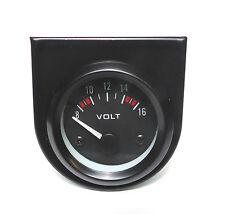 BF 52mm Volt Meter/Voltage gauge White bk-light Land Rover 4x4 Off Road
