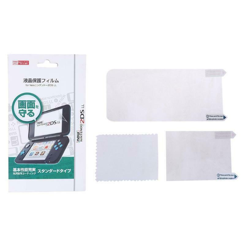 2in1 Top Bottom Ultra Clear Protective Film Surface Guard Cover for New 2DS XL