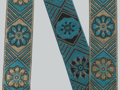 "1.90/"" wide By The Yard Jacquard Trim Woven Braid Sew Ribbon T730 4.82 Cm"