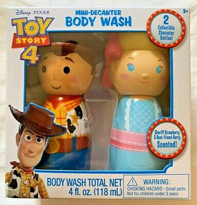 NEW Toy Story BODY WASH Collectible Bottles GIFT SET Strawberry WOODY BO-PEEP