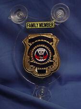 SALUTE OUR HEROES FAMILY POLICE CAR SHIELD- NJSP- FOP - PBA- LAW ENFORCEMENT