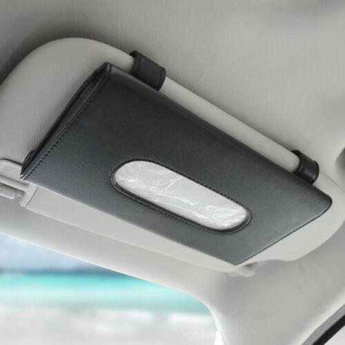 Noir//Beige Voiture Sun Visor uesful tissu boîte étui Bague fit for BMW Benz Tesla
