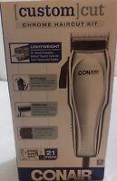 Conair 21-piece Chrome Custom Haircut Kit 9 Sizes 1/8, 1/4, 3/8, 1/2, 5/8,