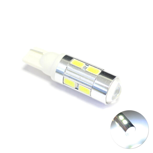 2x White 1-SMD LED Projector Lens Number Licence Plate Light Bulbs Upgrade