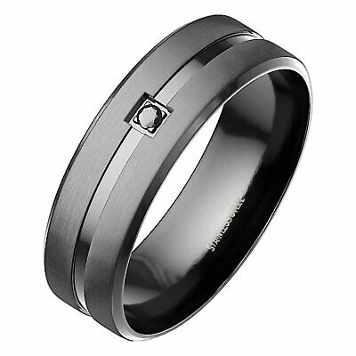 Stylish Casual Ring Band Men Women Promise Wedding Accessories Stainless Steel