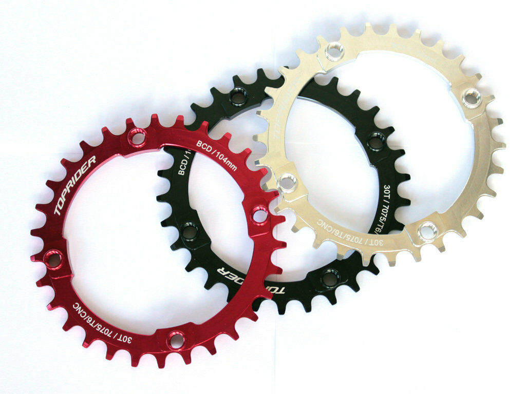 TOPRIDER Single Bike Narrow Wide Chainring 104mm 30T 9 10 11 Speed
