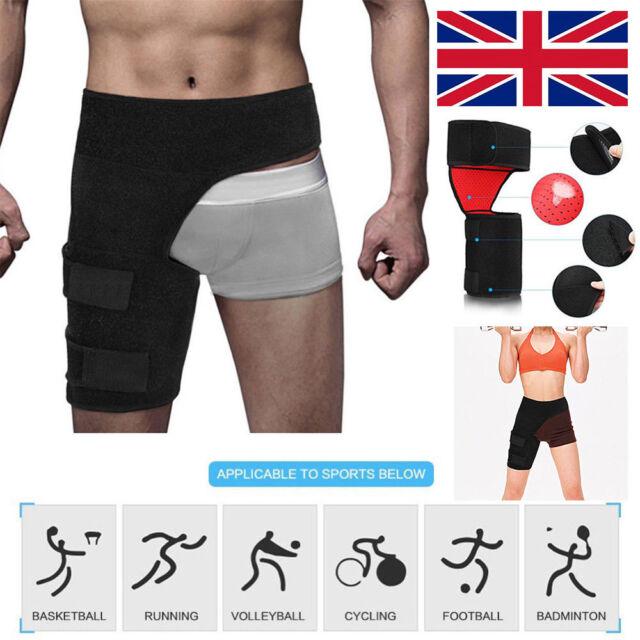 62f6f68359 Adjustable Injury Strap Support Thigh Compression Brace Groin Hip Quad  Hamstring