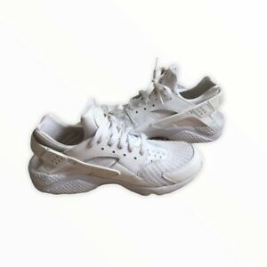 Details about Nike Air Huarache men's Size 8.5 Triple White Running Shoes  318429-111