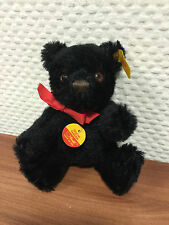 STEIFF 030543 ORIGINAL TEDDYBÄR SCHWARZ 15 CM ((( TOP ZUSTAND )))