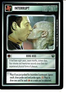 STAR TREK CCG FIRST CONTACT RARE CARD BORG KISS