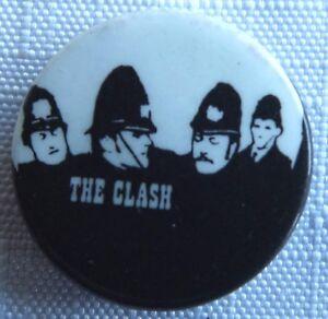 The-Clash-Old-Og-Vtg-1970-S-Boton-Pin-Insignia-Punk-Rock-25mm