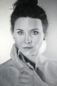 Original Ölgemälde Porträt Melina Maki Art Studio Berlin 2020 signiert