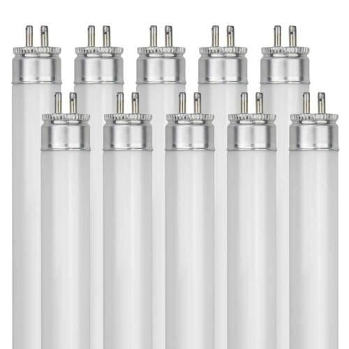 10 Pack Sunlite F6T5//CW 6-Watt T5 Linear Fluor Lamp Mini Bi Pin Base Cool White