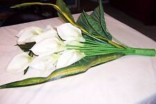 Large White Calla Lilies Silk 13 Flowers in Bunch
