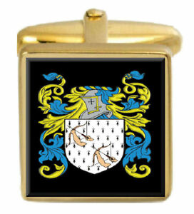 Select Gifts Newbury England Heraldry Crest Sterling Silver Cufflinks Engraved Message Box