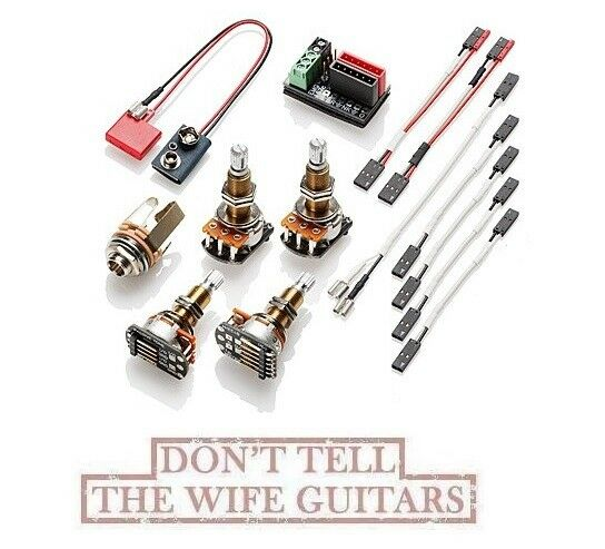 emg 1 2 pickup conversion wiring kit solderless long shaft les rh ebay com emg solderless wiring kit active emg solderless wiring kit 3 pickups