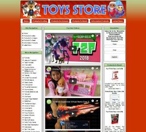 TOYS STORE Affiliate Website. Amazon+Google Adsense+Youtube+Automated News