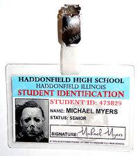 Halloween Michael Myers Student ID Badge Horror Cosplay Costume Prop Comic Con