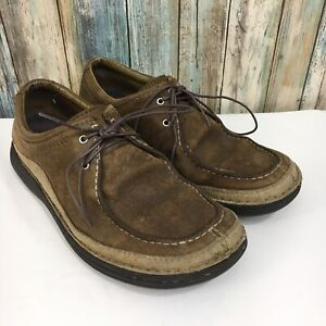 Merrell-Oracle-Peat-Moss-Homme-9-5-Marron-en-Cuir-a-Lacets-Casual-Chaussures-Oxford