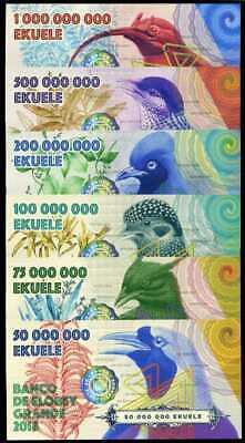 JUAN DE NOVA SET 4 1000 2000 5000 10,000 2018 FANTASY POLYMER BIRGUS LATRO CRAB