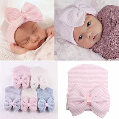 Infant Baby Hat Floral Print Turban Cap Newborn Head Wrap Beanie Knot Headband