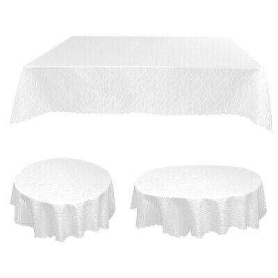 Tischdecke Damast Streifen Wellen Tischwäsche Eckig Rund Oval Tafeltuch