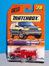 Matchbox 1999 Fire Rescue Series #76 Fire Pumper International Fire Truck MBFD
