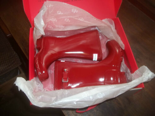 In Wellies Military Size Hunter Kids 12 Wellingtons Gloss Red Halifax wBUCqxnT
