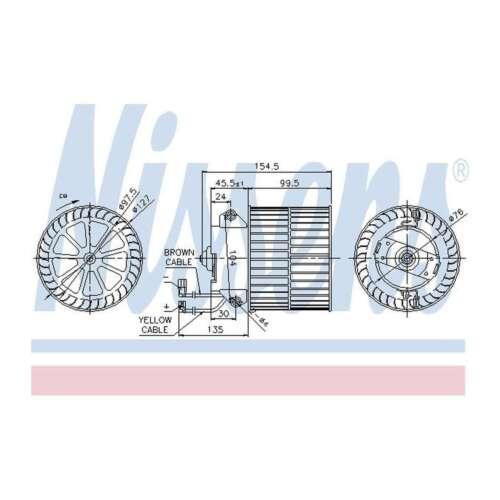 Fits Vauxhall Astra MK3 1.4i 16V Nissens Interior Heater Blower Motor Fan