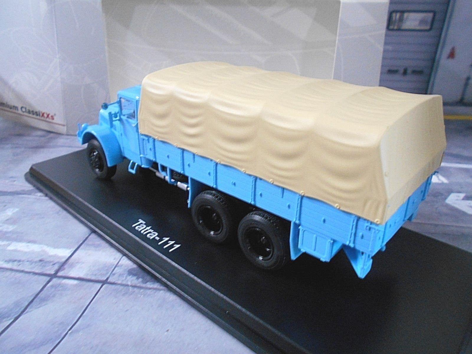Tatra 111 PICK-UP Bâche BLEU BLEU BLEU BLUE TRUCK CAMION ostblockpcl PREMIUM CLASSIXXS 1:43   La Qualité  eaf333