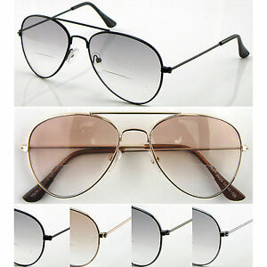 9034c21a03f Image is loading SL293B-Classic-Bifocal-Lens-Small-Aviator-Tinted -Spectacles-