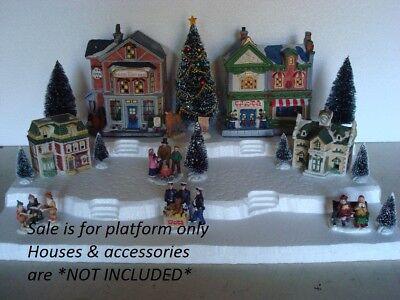 Christmas Village.Christmas Village Display Base Platform Ch21 For Lemax Dept56 Dickens More Ebay