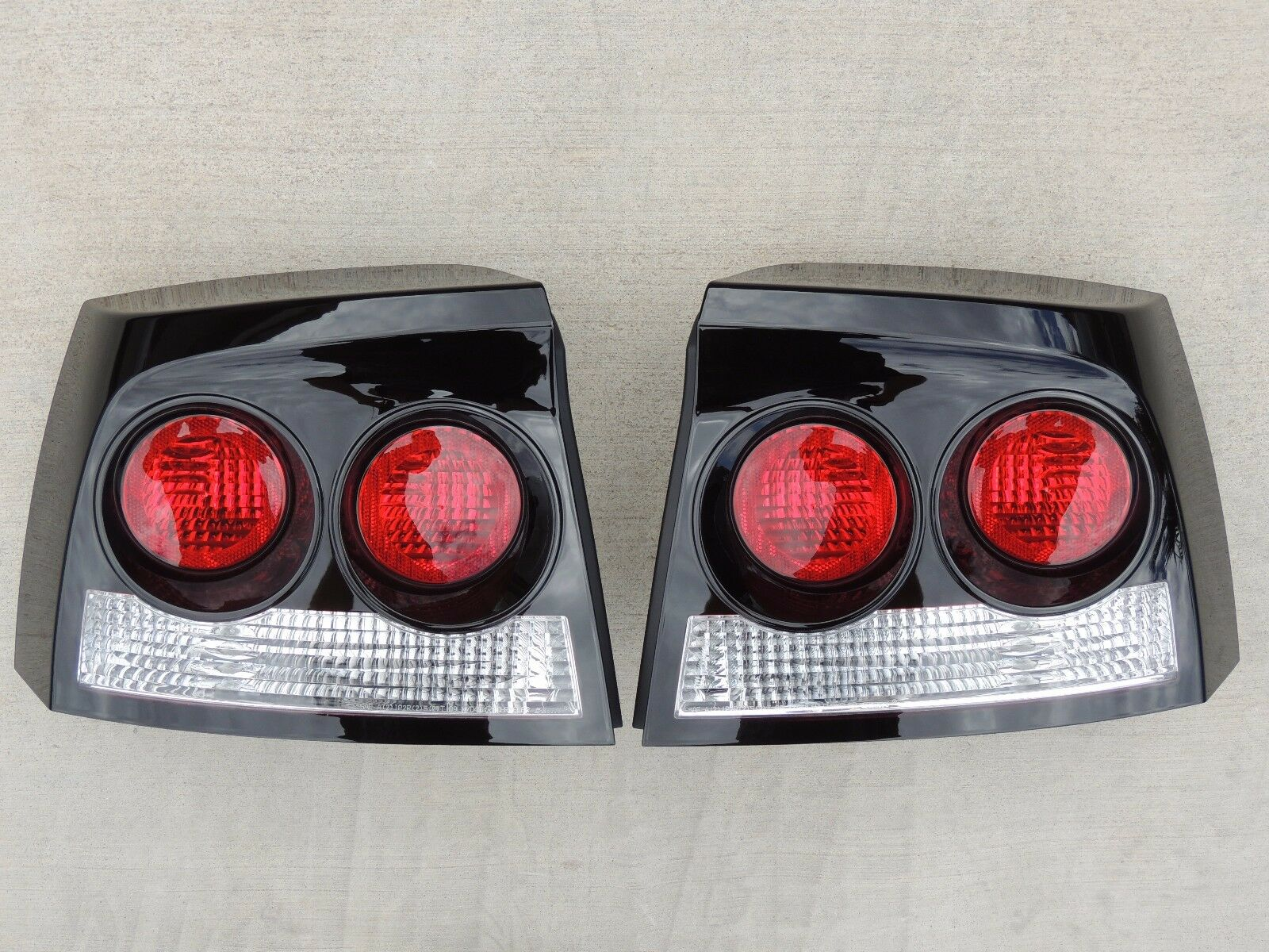 Custom 06 10 Charger Smoked Tail Lights Black Oem Tinted