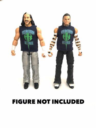 """WWE Matt Hardy JEFF HARDY nascono dal destino /""""Camicie personalizzati per Mattel figure."""