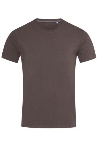 Kurzärmlig Herren Schlicht Enge Passform Körper Baumwolle Elasthan T-Shirt