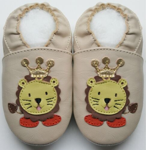 minishoezoo soft leather baby shoes slippers 0-6 6-12 12-18 18-24m 2-3T 3-4T
