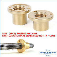 X Axis Longitudinal Brass Feed Nut Set Milling Machine Tools High Quality Copper