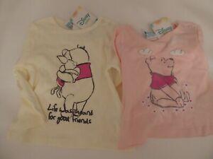 74//80 Disney Baby Shirts Langarm 2er Set Winnie Puuh Pooh Gr