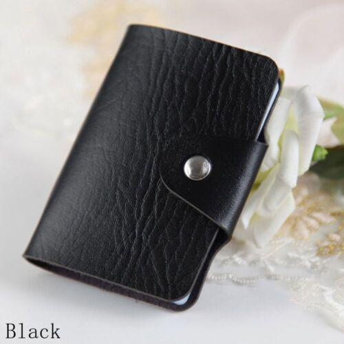 24Card Slots Double Side Plastikkartenhalter Kleine Business Kreditkarten-Tasch
